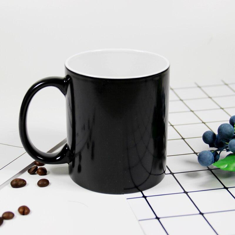 DIY Personalized Magic Mug Heat Sensitive Ceramic Mugs Color Changing Coffee Milk Cup Gift Print Pictures H1228