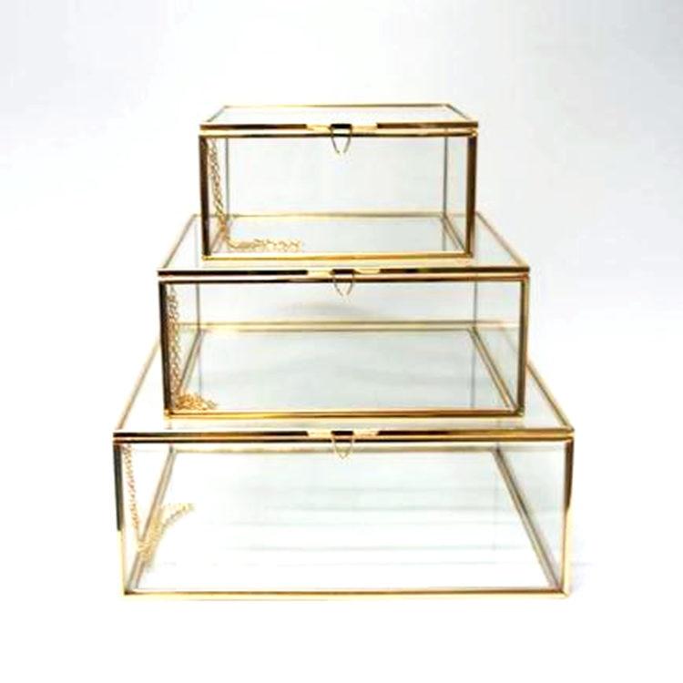 صندوق مجوهرات زجاجي على الطراز الاسكندنافي ، صندوق تخزين زجاجي ، طاولة زينة ، مجموعة تشطيب ، غطاء عرض لمتجر الأظافر