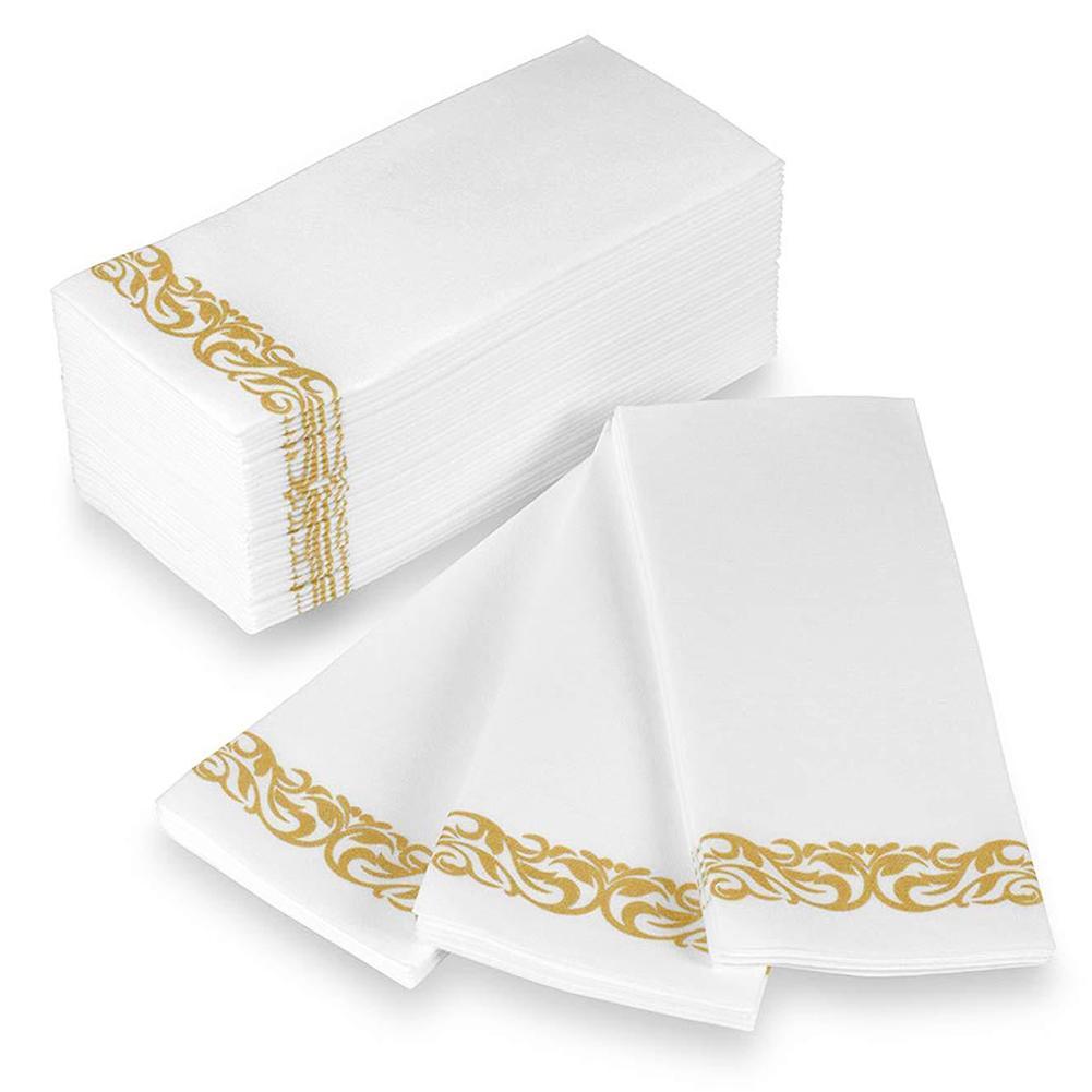 50 pçs guardanapo de tecido descartável casa restaurante prato tigela papel toalha mesa decoração do agregado familiar merchandises pele amigável