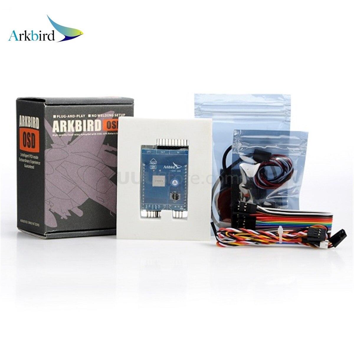 Sistema rth osd v3.1028 do controlador de voo do sistema do piloto automático do pássaro de arkbird que inclui o sensor atual de gps 3s para a fixo-asa da longa distância
