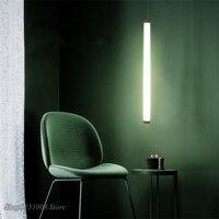 Minimalist Designer Strip Pendant Lamp Modern Dining Room Pendant Lights LED kitchen Hanging Lamp Minimalist decor Light Fixture