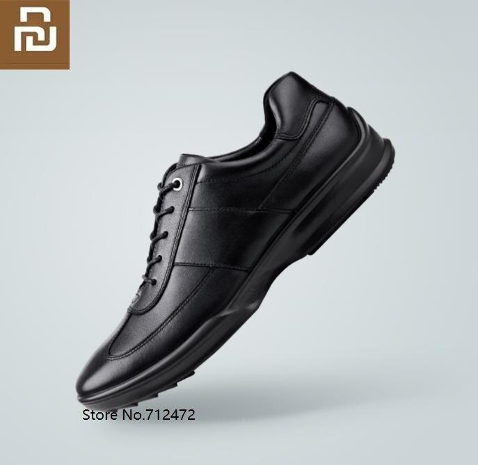 Zapatos de cuero Casual Youpin QIMIAN de lujo para hombre, primera capa de piel de vaca, amortiguación, soporte de moda, comodidad, resistente al desgaste