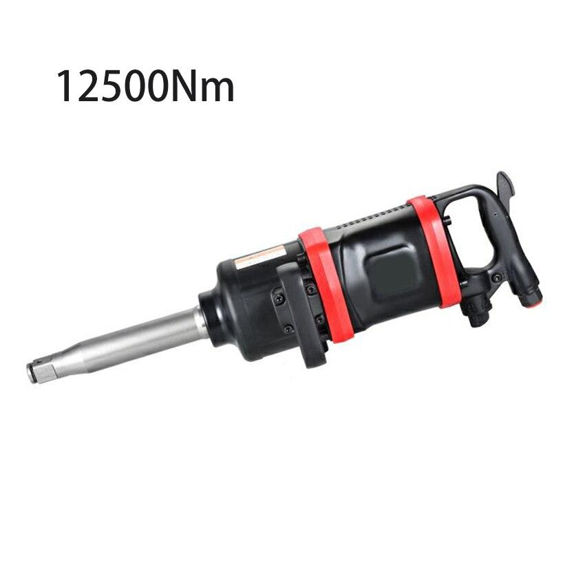 1 بوصة الثقيلة الهوائية وجع 12500Nm الهوائية المفك قوية الهواء تأثير مفتاح العزم التواء إطار شاحنة أداة إزالة الصواميل
