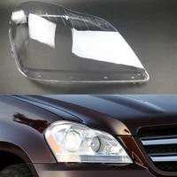 1pcs car headlight lens head light lamp cover shell for mercedes benz x164 gl350 gl400 gl450 gl500 2006 2011