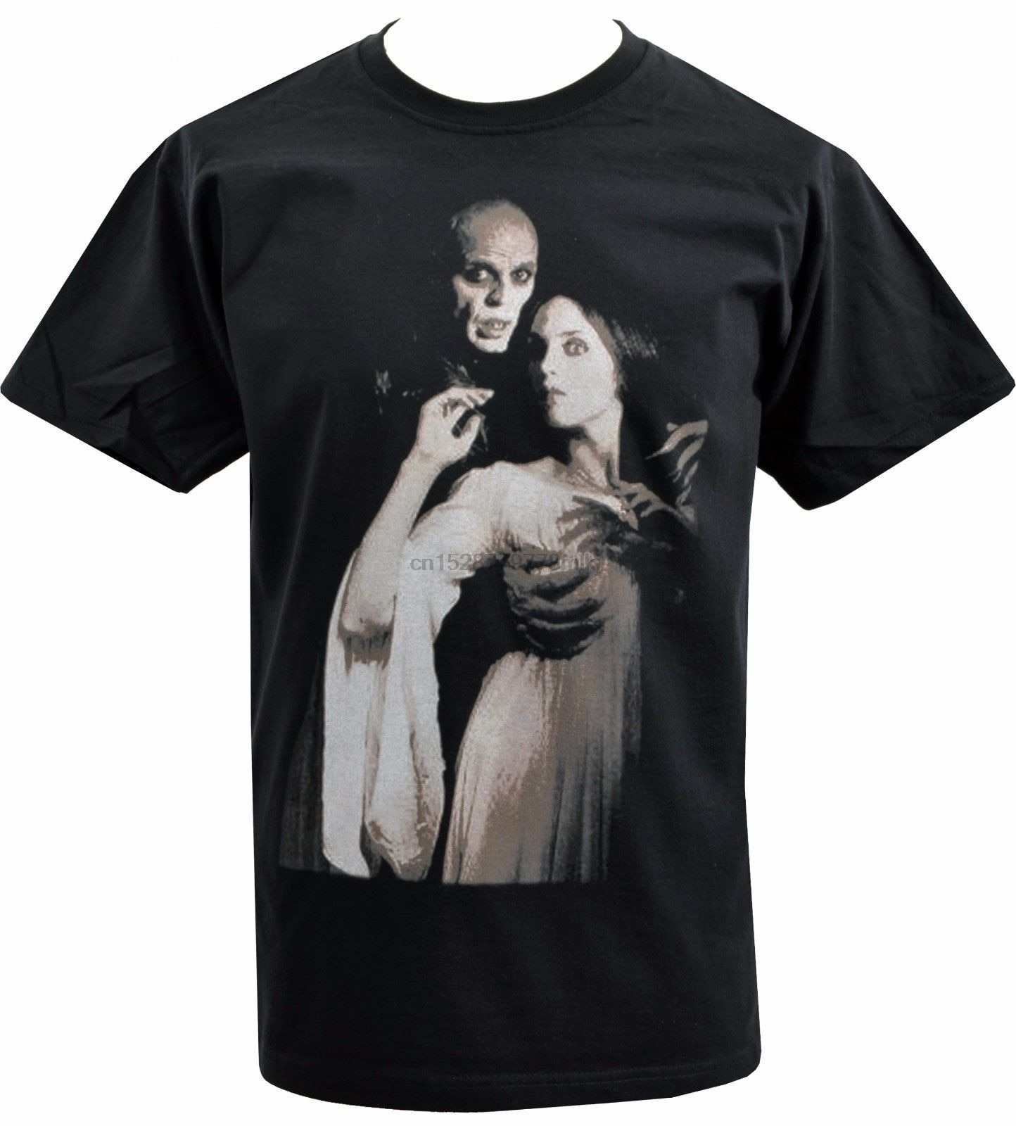 Camisa preta dos homens nosferatu max shrek orlok vampiro gótico horror culto s-5xl