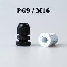 Kunststoff Kabel Drüse 5-20 stücke Hohe Qualität IP68 PG9 M16 4-8MM Wasserdichte Nylon Kabel Drüse mit Wasserdichte Dichtung kabel hülse