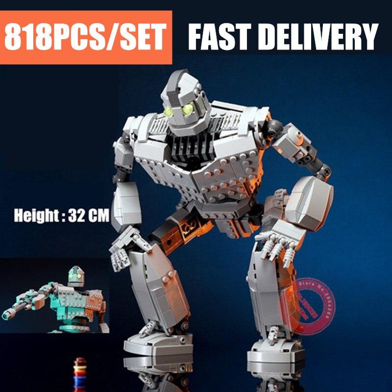 Nuevo MOC el Robot de hierro Fit Lepining Technic City figuras Voltron modelo gigante bloques ladrillos niños juguetes niño regalos cumpleaños