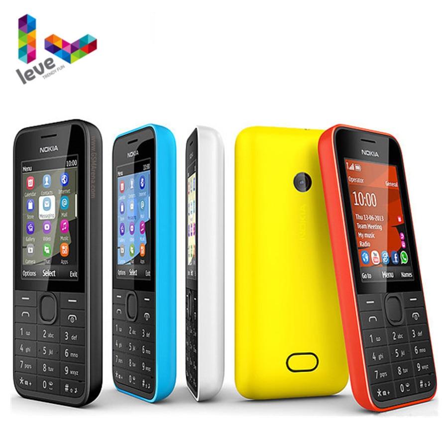 Used NOKIA 208 Single Sim Version Phone GSM Support Hebrew Arabic Russian Keyboard Unlocked Mobile P