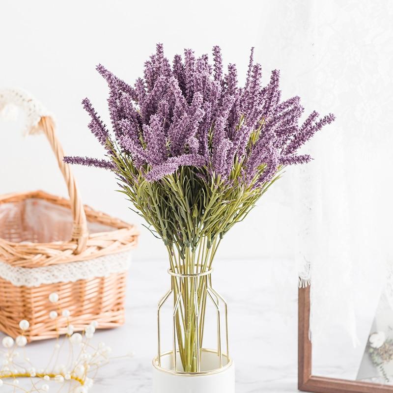 aliexpress.com - Artificial Plant Lavender Wheat Ears Home Decor Christmas Crafts Flower arrangement Diy Living Room Fake Flowers Bonsai Wedding