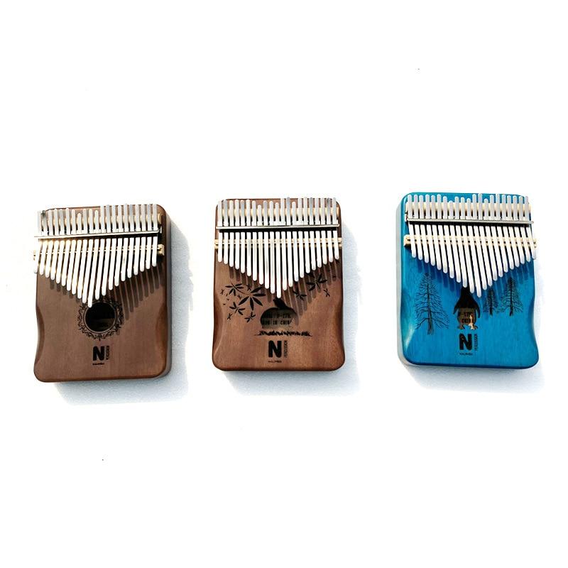21-chave polegar piano mogno kalimba de alta qualidade dedo piano teclado de metal instrumento musical iniciante presente kb38