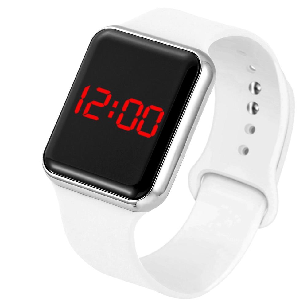 Часы детские цифровые с силиконовым браслетом, модные детские электронные со светодиодным дисплеем для мужчин и женщин, студенческие часы ...