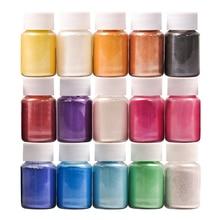 32 cores para a fabricação de sabão/sabão corantes/arte do prego/sombra diy mica pó pigmento kit de fornecimento de pó resina em garrafa organizada