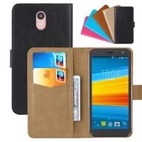 luxury wallet case for dexp g550 pu leather retro flip cover magnetic fashion cases strap