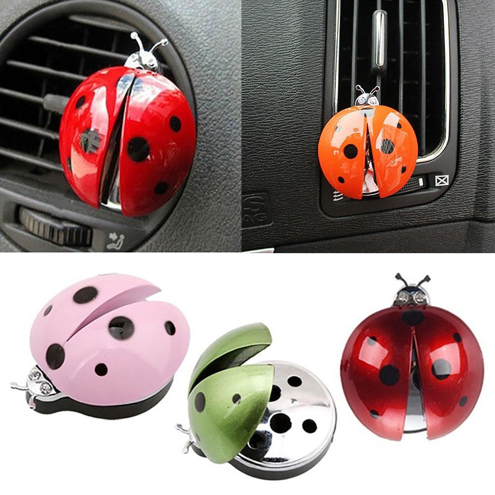 Ambientador de aire para coche de mariquita bonita, Clip de Perfume, fragancia, difusor de Aromas, decoración 2020