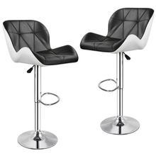 2PCS Schwarz und Weiß Bar Stühle Kreative Moderne Einfachheit Höhe Einstellbar Hebe Stuhl Küche Bar Frühstück Bar Hocker HWC