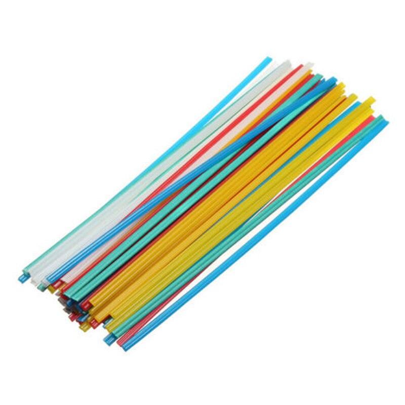 50 pçs pçs/set cor da mistura conjunto plástico hastes de solda pp/pvc plástico soldador varas ferramenta