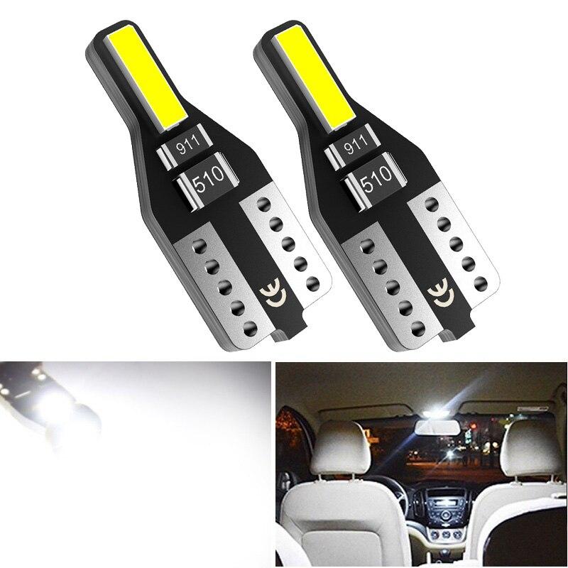 2 шт. W5W T10 светодиодный лампочка 168 194 подсветка для Чтения номерного знака автомобиля купольная лампа для багажника Kia Rio 2 3 Mazda Toyota Peugeot 206