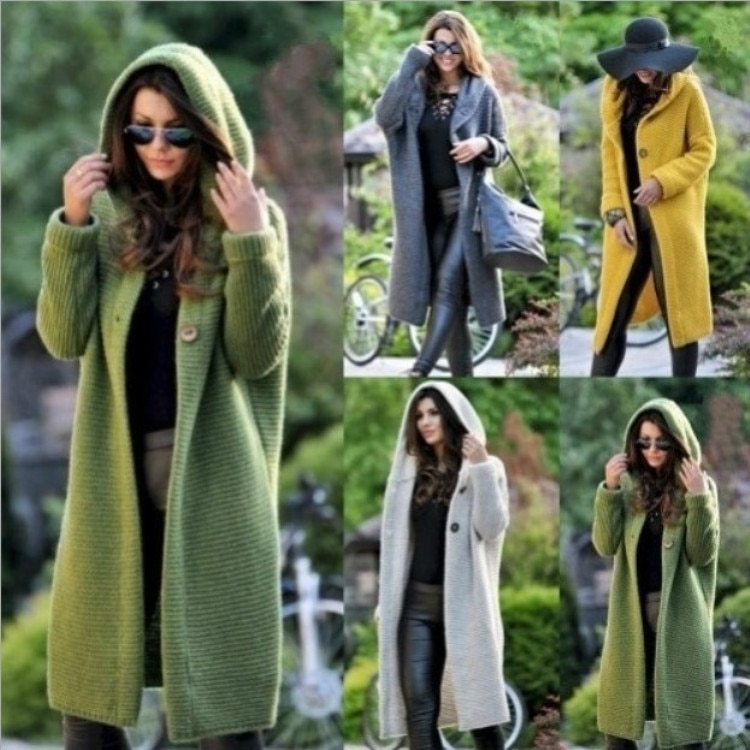 Ladies Winter Sweater Cardigan Women Fashion Knitted Loose Spring Winter Office Long Sleeve Female Slim Knitwear Sueter De Mujer
