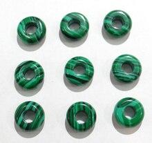 Groothandel 10mm Natuursteen malachiet Grote Gat Kralen Kwaliteit spacer kralen DIY Sieraden maken Accessoires 30 stks/partij