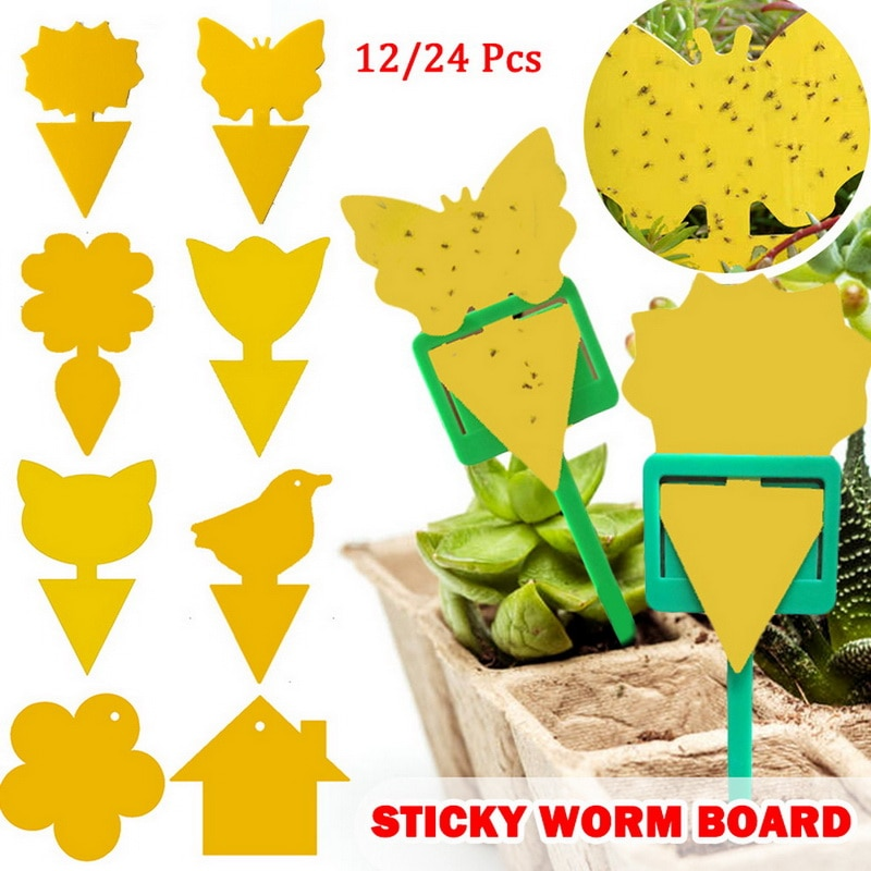 Strong Flies Traps Bugs Sticky Board Catching Aphid Insects Killer Pest Control Whitefly Thrip Leafminer Glue Sticker