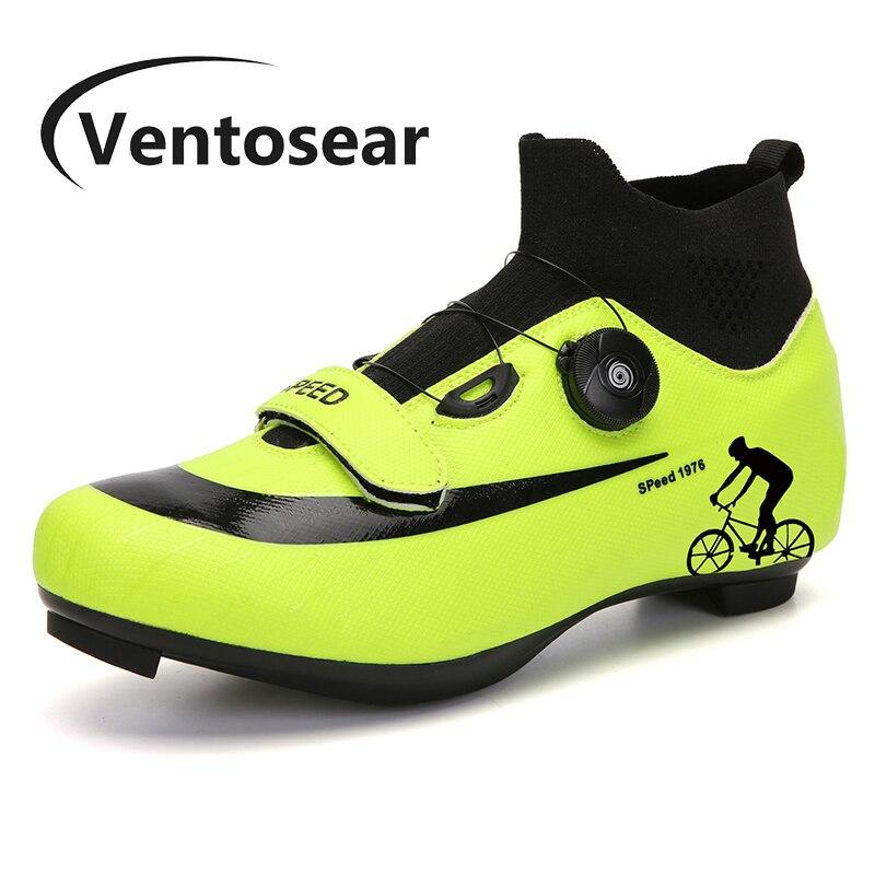 Ventosear-Botas de ciclismo de montaña para hombre y mujer, zapatos planos Enduro...