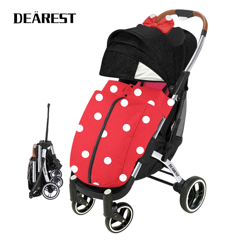 Dearest Pro High Landscape Stroller Can Sit Or Lie Super Lightweight Folding Four-Wheel Shock Absorbers Stroller Four Seasons