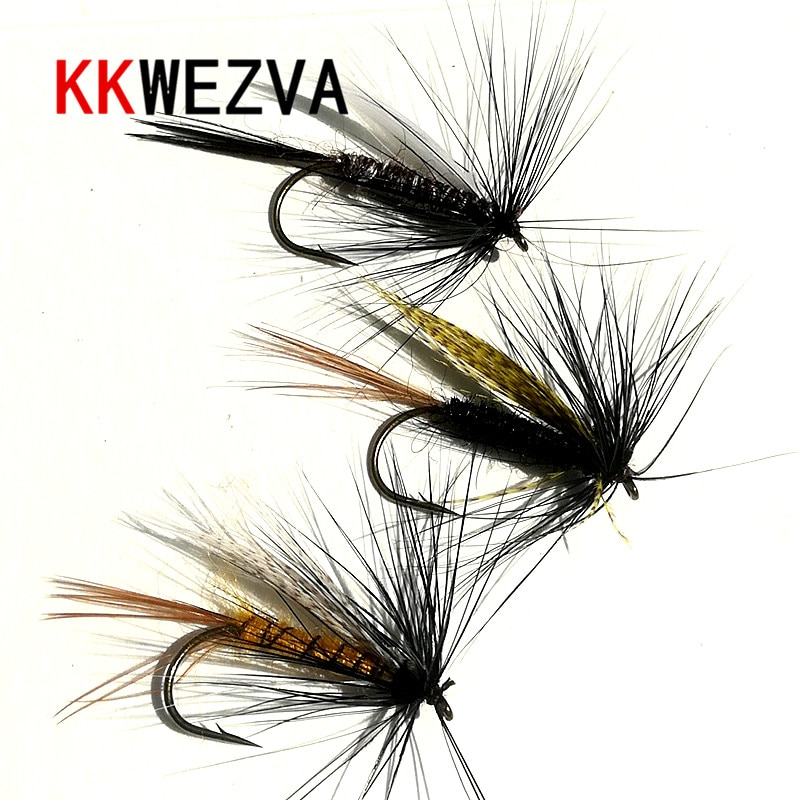yazhida global fly fishing fans flies collection plan KKWEZVA 18pcs Fishing Lure fly Insects different Style Salmon Flies Trout Single Dry Fly Fishing Lures Fishing Tackle