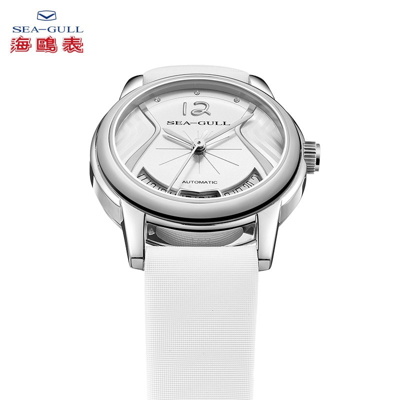 2020 new seagull watch female gold-plated trend fashion simple belt automatic mechanical watch fashion watch 6023L enlarge