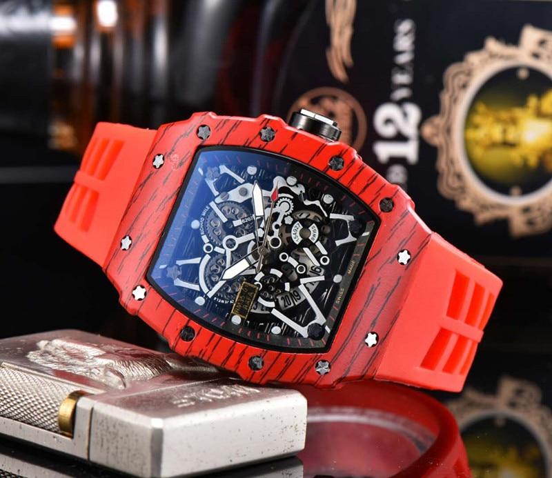 Marca superior aço cronógrafo masculino horloges automático horloge blauw siliconen militaire esporte horloge relogi