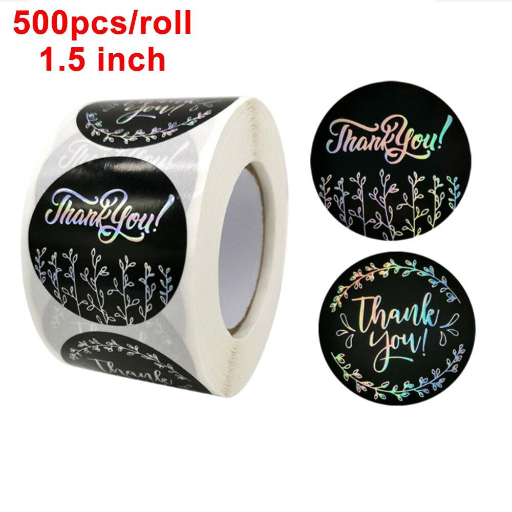 38-см-Черный-Лазерная-спасибо-рулонные-наклейки-Творческий-Спасибо-Этикетки-для-печати-для-подарка-вечерние-праздничные-украшения-выпечки