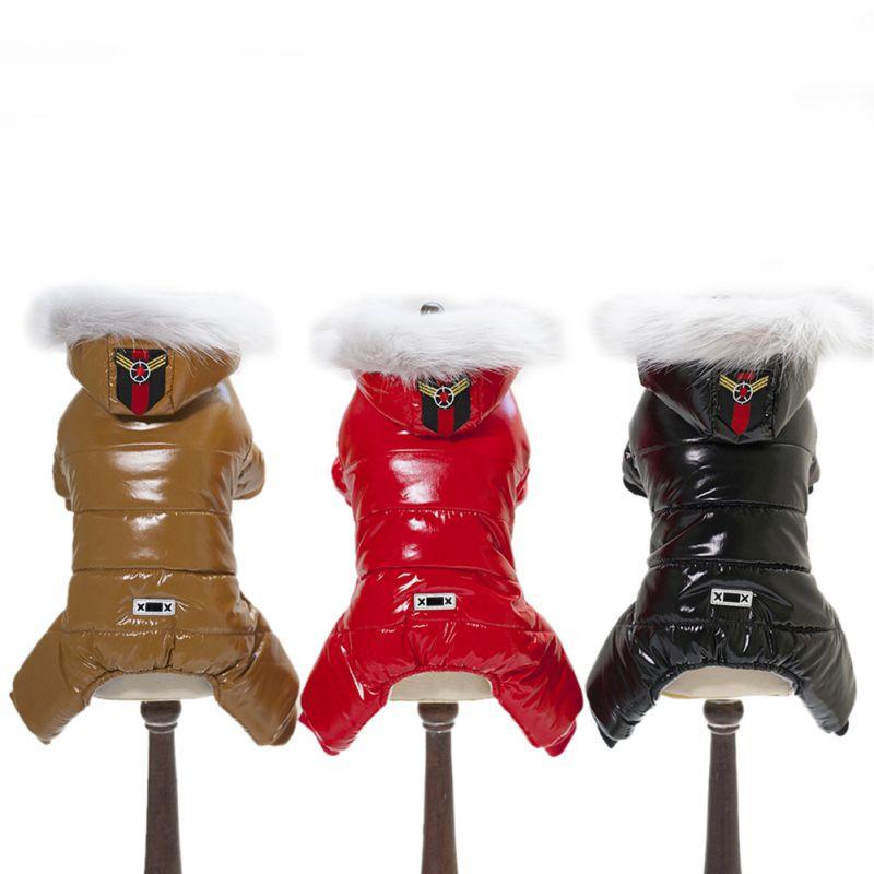 Ropa de invierno para mascotas, abrigo de peluche cálido para mascotas, chaqueta, mono de cuatro piernas, Ropa para cachorros, disfraz para Perro pequeño, Ropa, atuendo, Ropa