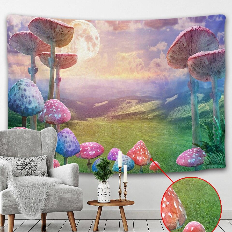 Hermosa planta psicodélica escena Mandala tapiz pared tela Yoga Hippie Fondo tela viaje colchón decoración del hogar