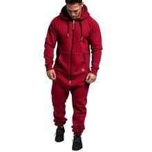 2020 Men One-piece Jumpsuits Garment Pajama Playsuit Zipper Hoodie Male Onesie Camouflage Print Jumpsuit Streetwear Overalls
