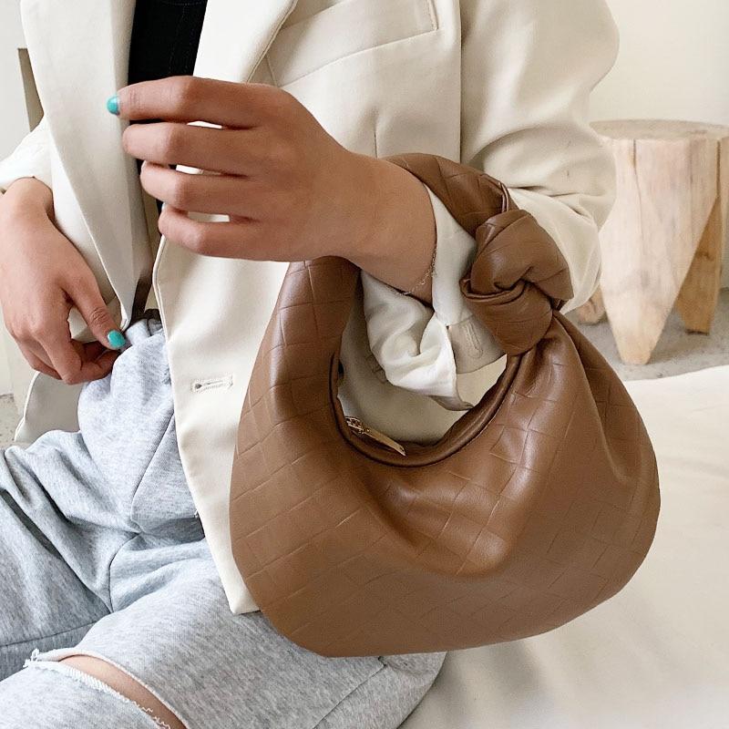 Luxury Hand Cloud Purses And Handbag Soft Leather Clutches Women Dumpling Hobo Bag Vintage Leather Shoulder Bag Female Totes Bag