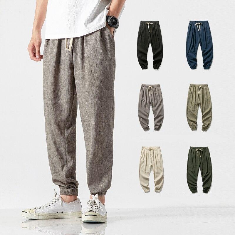Штаны для бега, мужские хлопковые спортивные брюки, мужские повседневные легкие штаны для бега, Мужская одежда, мужские брюки, модные штаны ...
