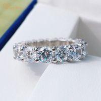 Wong Rain Classic 100% 925 пробы серебро овальная огранка Муассанит Бриллианты драгоценный камень Обручальные парные кольца изящные ювелирные издели...