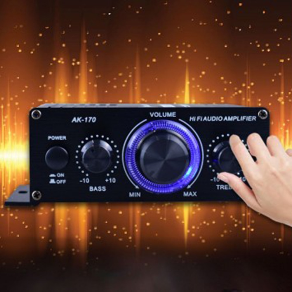 400W DC12V No Bluetooth HiFi Power Amplifier Car Stereo Music Receiver FM Radio MP3 Brand New And Hi
