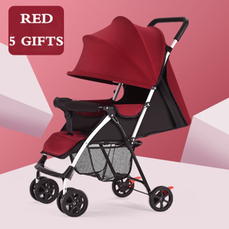 Free Shipping Baby Stroller 3.5KG Lightweight and Convenient Foldable for Four Season and Summer Baby Carriage with 5 Gifts