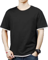 2021 summer top street style t shirt mens polyester formal shorts new free delivery camiseta solid mens wear