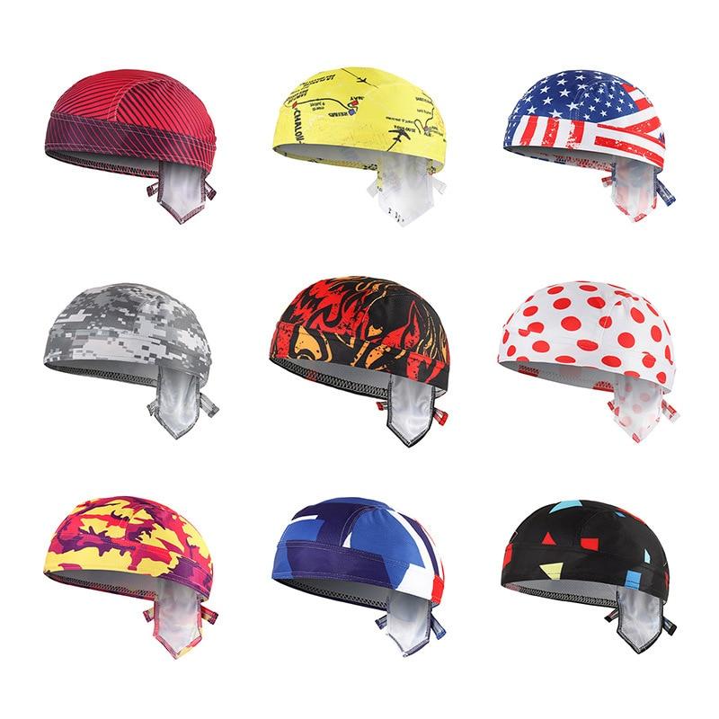 16 Colors Men Women Cycling Pirate Cap Bandanas Summer Sunscreen Running Headwear Scarf Outdoor Breathable Bike Cap Bicycle Hat