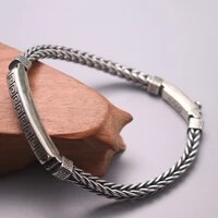 solid 925 sterling silver bracelet 6mm wheat link chain bracelet 8 66 l