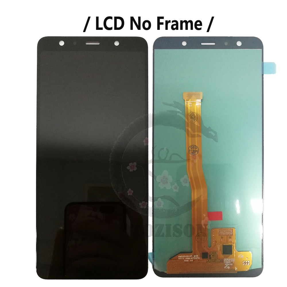 Super AMOLED A750 Screen For SAMSUNG Galaxy A7 2018 Display With Frame SM-A750FN/DS A750F LCD Touch Sensor Digitizer Assembly enlarge