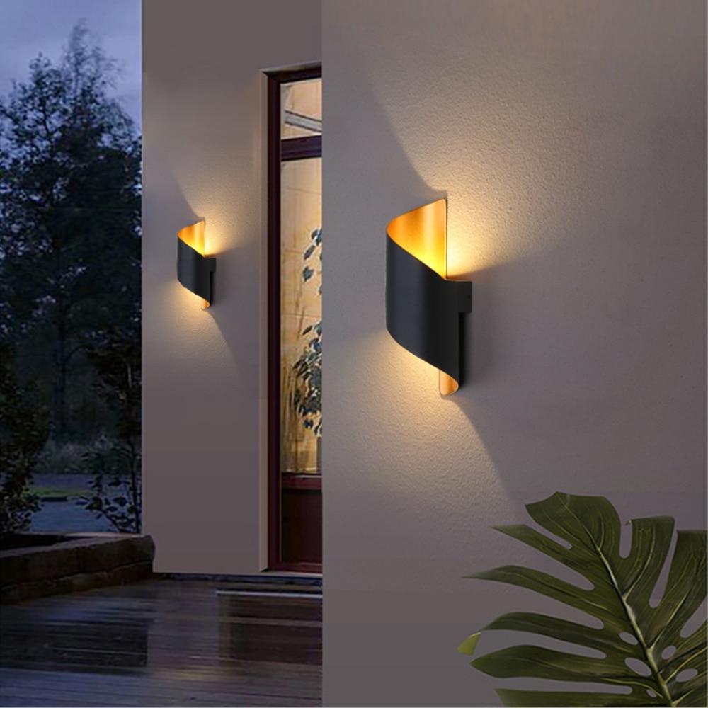 IP65 وحدة إضاءة LED جداريّة ضوء الألومنيوم RGB في الهواء الطلق مقاوم للماء حديقة سياج داخلي موضة الجدار مصباح لغرفة النوم السرير غرفة المعيشة الد...