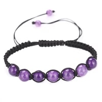 natural crystal stone energy bead handmade rope braided charm bracelets for women men party club yoga jewelry