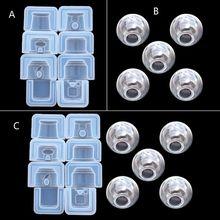 4 estilos hechos a mano clásico de vidrio caramelo Twirling gumball máquina de resina molde juguete con juego divertido colgante molde de resina Epoxy artesanía