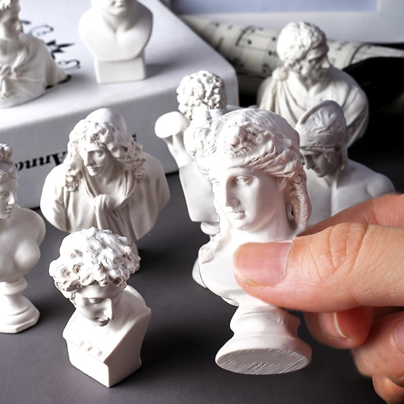Molde de yeso mini boceto cabeza hormigón modelo molde artístico escultura cabeza cemento colgante molde