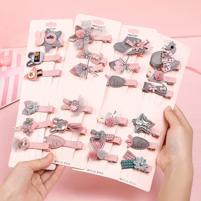 6 piezas niños lindo dibujo animado Color caramelos conejos de Clips de pelo bebé niñas encantador horquilla para cabello para Niños Accesorios