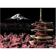 5D wall painting  diamond painting cross stitch crafts diamond embroidery japan tower home decor diamond mosaic square diy full