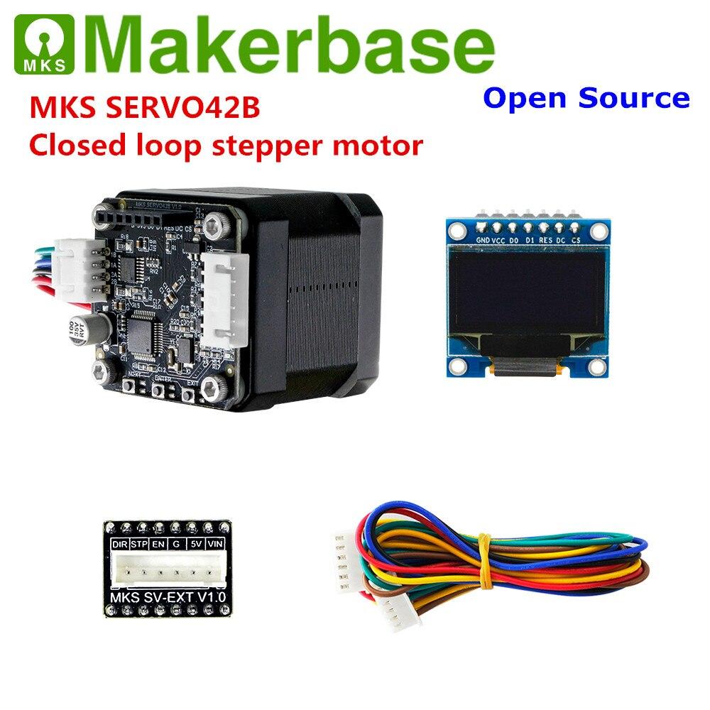 Makerbase MKS SERVO42B impresora 3D circuito cerrado motor de pasos servo motor de pasos SMT32 controlador de motor de circuito cerrado para Nema 17