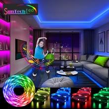 Suntech LED Light Strips, Bluetooth Music Sync Color Flexible RGB 5050 Diode Tape,Led Lights Built-i